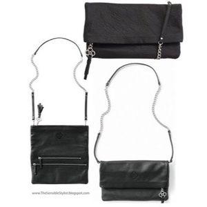 Stella & Dot Covet Waverly-Black Leather